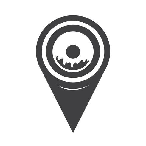 Kaart aanwijzer Donut pictogram