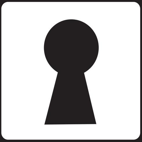 signo de símbolo de ojo de cerradura