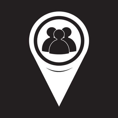 Icône de personnes de pointeur de carte