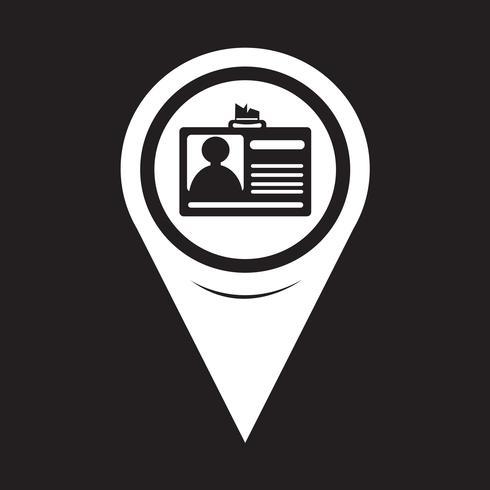 Kartenzeiger-ID-Kartensymbol