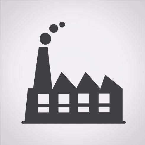 Sinal de símbolo de ícone de fábrica