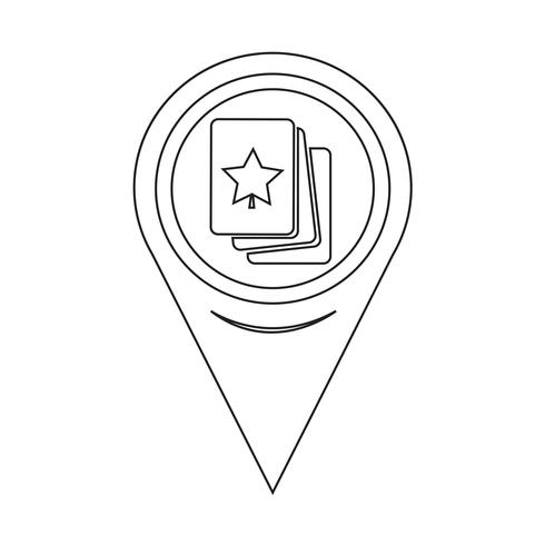 Map Pointer Playing Cards Icon