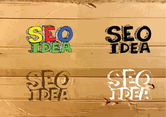 Seo Idea SEO Search Engine Optimization on Cardboard Texture illustration vector
