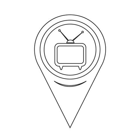 Kaartaanwijzer Tv-pictogram