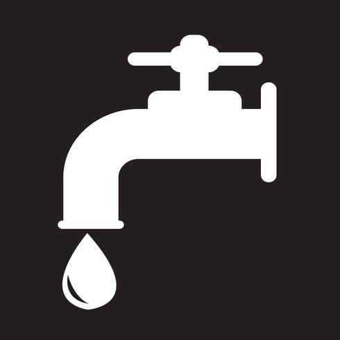 sinal de símbolo de ícone de torneira