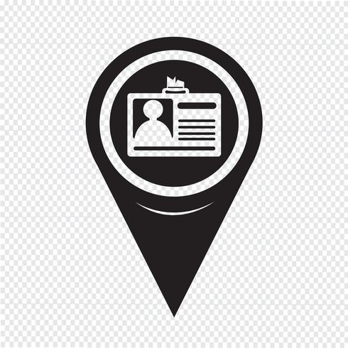 Map Pointer ID Card Icon