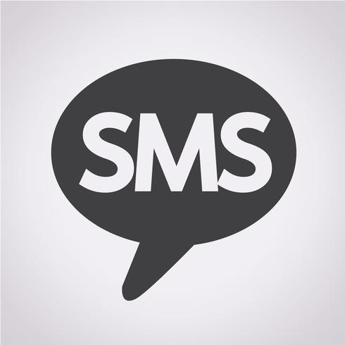 Icono de SMS símbolo de signo vector