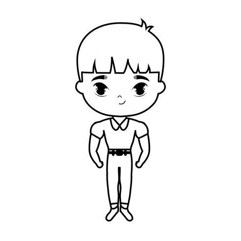 joli personnage avatar garçon étudiant