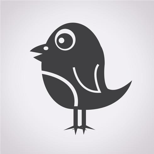 Pássaro, ícone, símbolo, sinal
