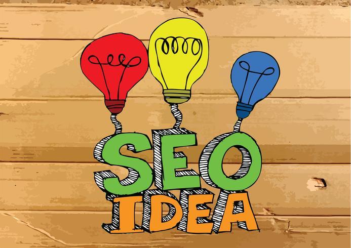 Seo Idea SEO Search Engine Optimization sull'illustrazione di struttura del cartone