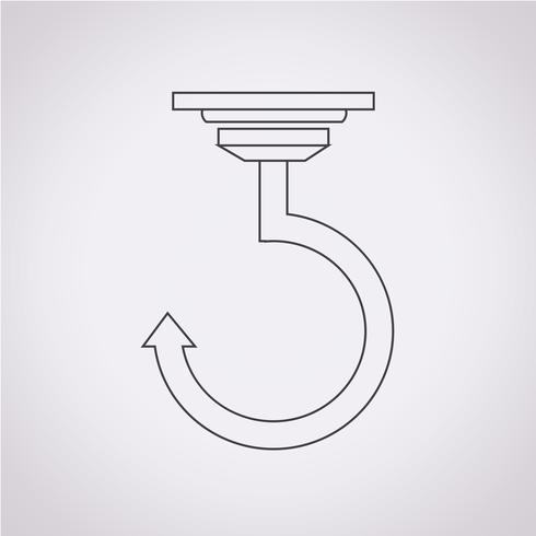 Haak pictogram symbool teken