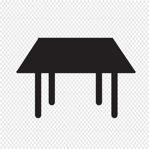 Table Icon  symbol sign vector