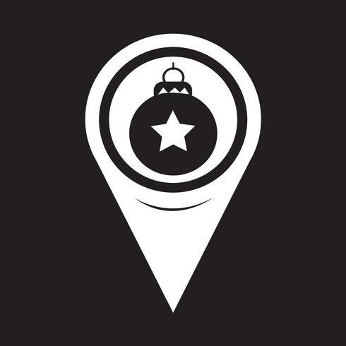 Map Pointer Christmas Ornament Ícone de bola