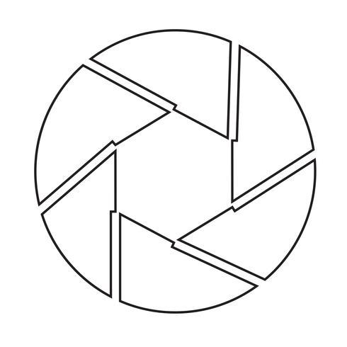 Aperture icon symbol sign