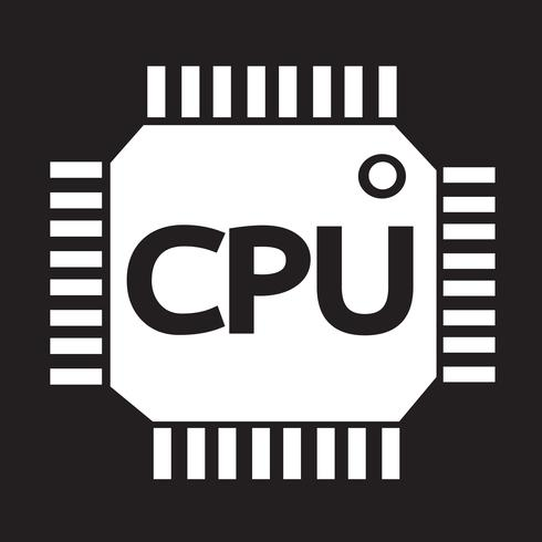 CPU icon  symbol sign vector