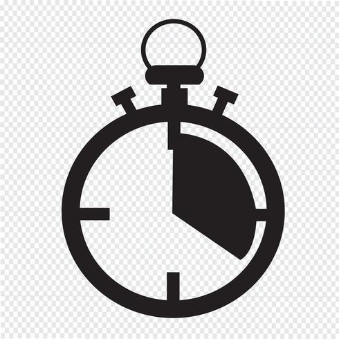 sinal de símbolo de ícone de cronômetro vetor