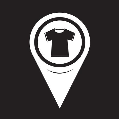 Icona della maglietta puntatore della mappa