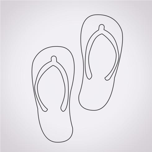 slippers icon  symbol sign