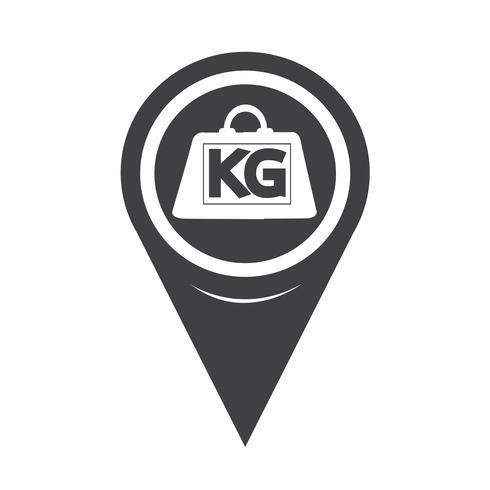 Map Pointer Weight Kilogram Icon