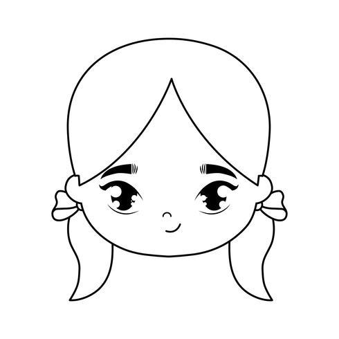 capo del personaggio avatar ragazza carina