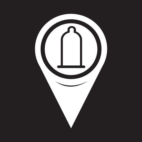Map Pointer Condom Icon