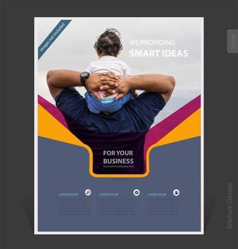 Abstract business brochure template 2019 cover design- Vector Illustration