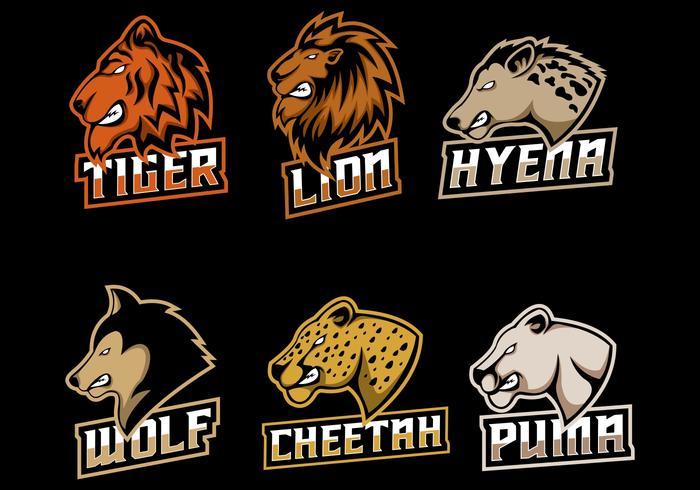 ilustração em vetor logotipo conjunto predador