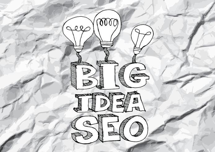 Seo Idea SEO Search Engine Optimization on crumpled paper