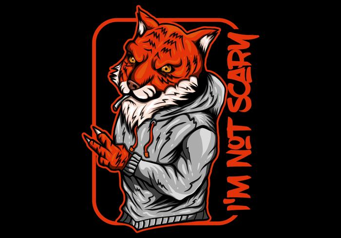 tigre humo vector illustration