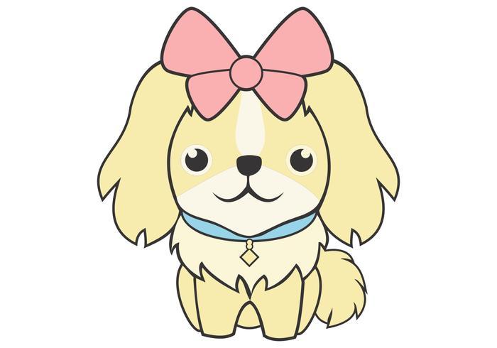 cute feminine dog vector illustration