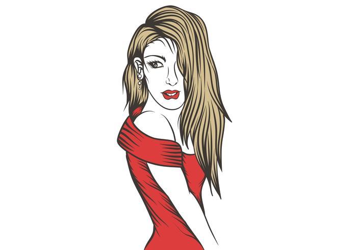 female vector illustration