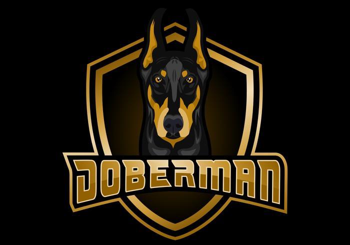 DOBERMAN shield vector illustration
