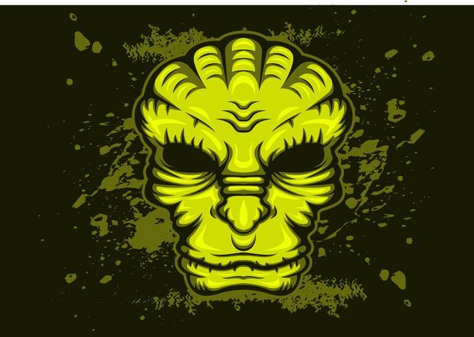old alien vector illustration