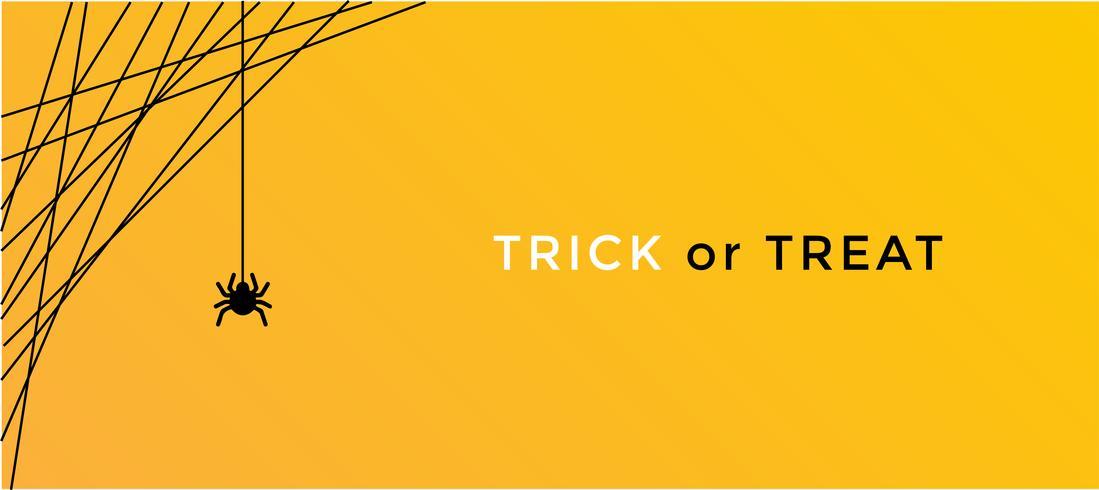 conceito de aranha do dia das bruxas. fundo de banner para a noite de festa de Halloween