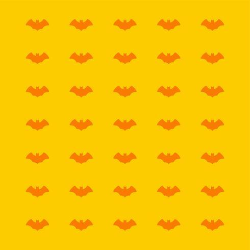 modello di pipistrello spaventoso su sfondo giallo per Halloween