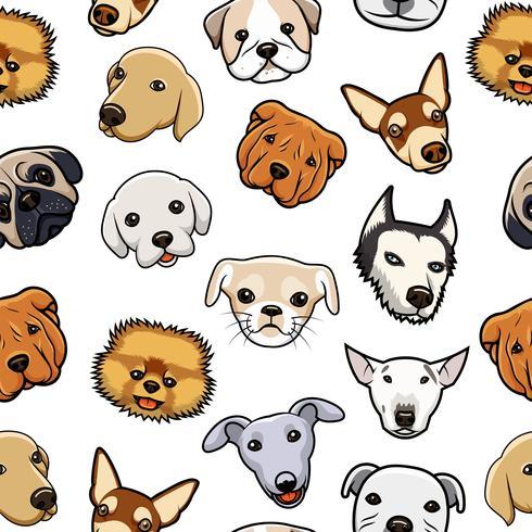 Motif de tête de chien sans soudure