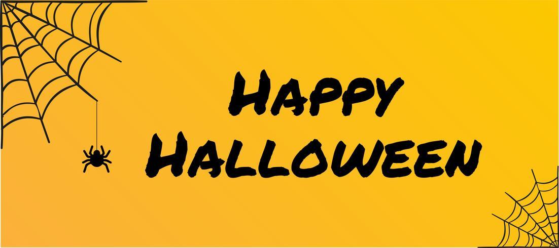 Vector Illustration of halloween on yellow background.