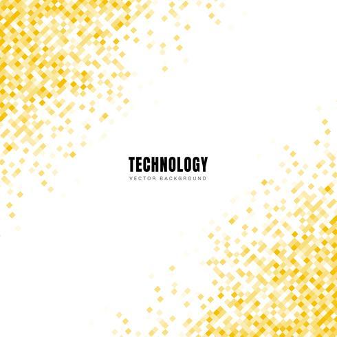 Padrão de quadrados amarelos geométricos diagonal abstrata em fundo branco
