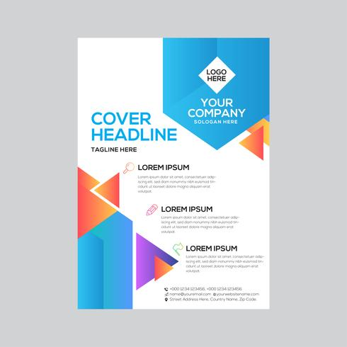 Color Abstract Stylish Business Flyer Design