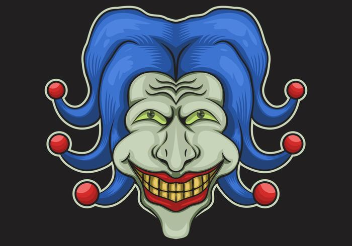 Joker hoofd vectorillustratie vector