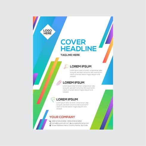Modern Business Flyer Colorful Design