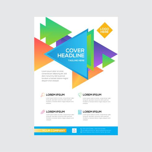 Simple Triangle Business Flyer Design Colorful