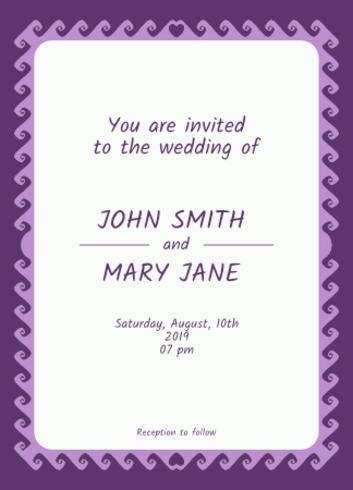 Bröllopsinbjudan