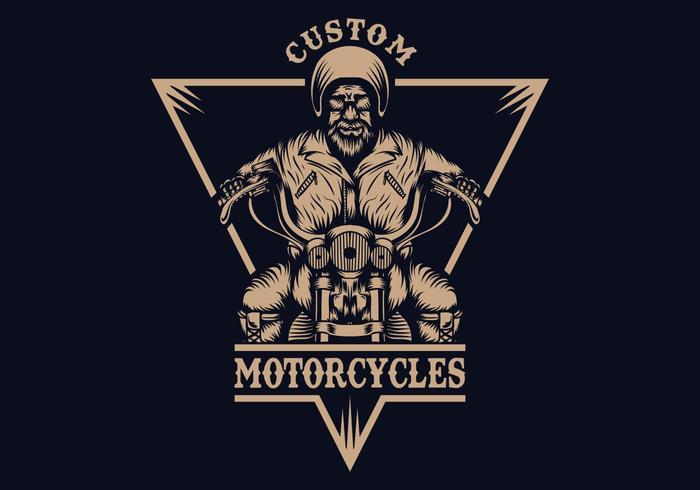 biker man badge vector illustration