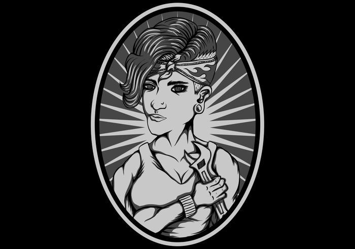 weibliche Reparatur-Vektor-Illustration
