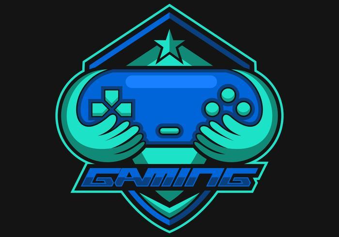 Consola de juegos logo e deportes vector