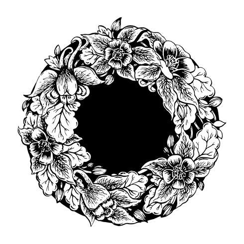 Frame of flowers.