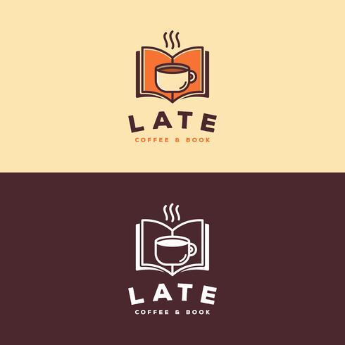 Koffie boek logo vector