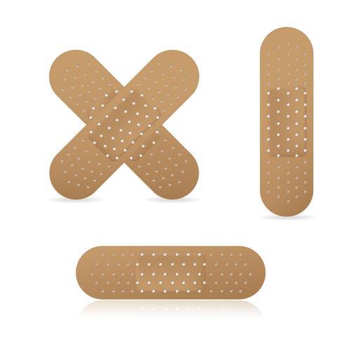 Adhesive bandage elastic medical plasters
