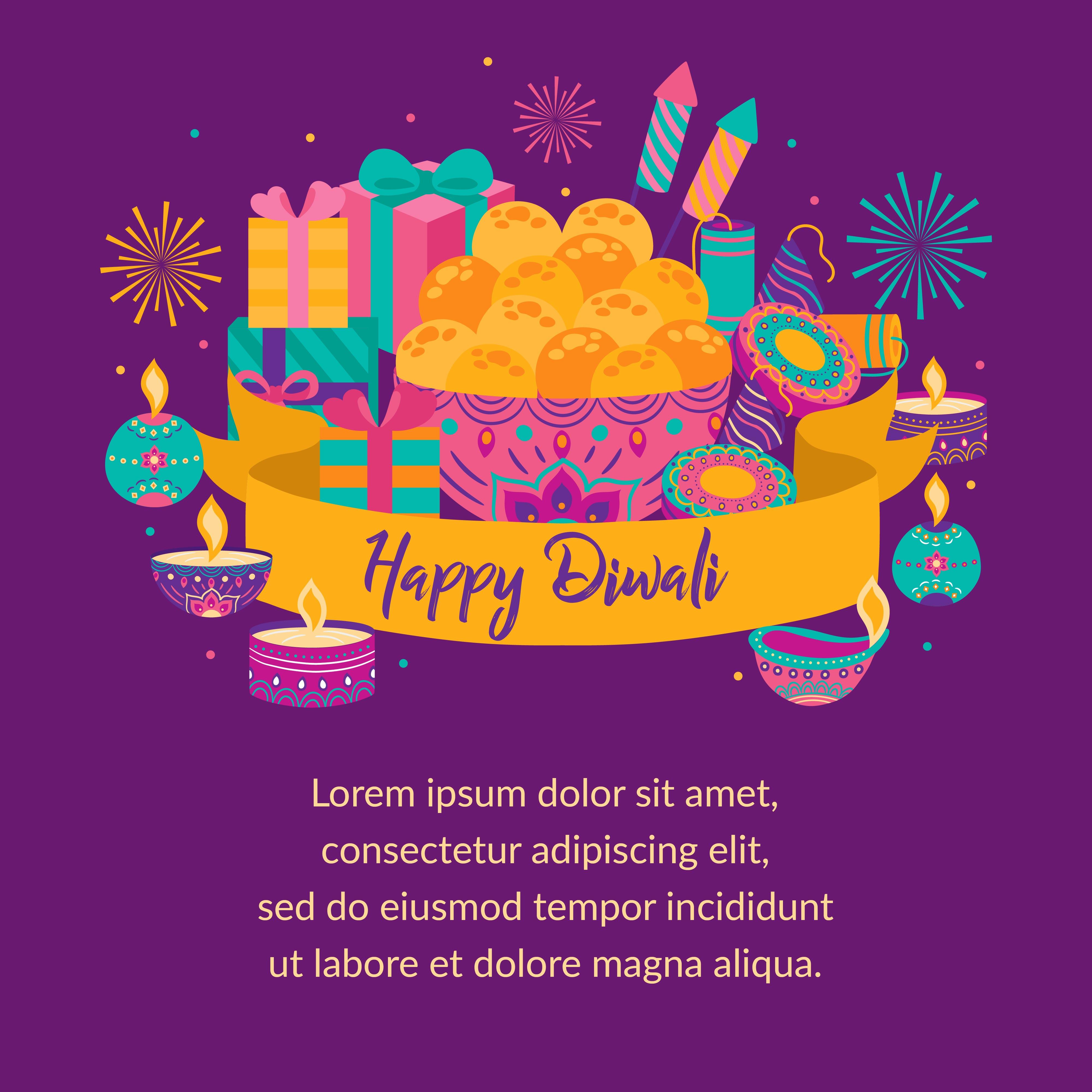 happy diwali festival of light greeting card diwali